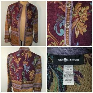 Sag Harbor Tapestry Jacket with Artisan Buttons.